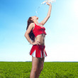 Stock Photo: Cheerleader