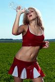 Cheerleader — Stock Photo