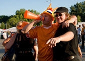 Holland supporters in Kharkov, Ukraine — ストック写真