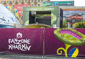 FANZONE in Kharkov, Ukraine. EURO-2012 — Stock Photo