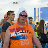 Holland supporters in Kharkov, Ukraine — Stock Photo
