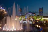 Natt syn på terminal södra station. kharkov - staden av euro-201 — Stockfoto