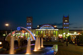 Night view of terminal South Station. Kharkov - city of EURO-201 — Stock Photo