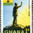 GHAN- 1959: shows Statue of President Kwame Nkrumah, Accra, Parliament House — Stock Photo #10744382