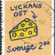 Stock Photo: SWEDEN - 1992: shows Cheese, series Greetings Stamps