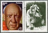 POLAND - 1981: shows Pablo Picasso (1881-1973), artist, birth centenary, with label showing A Crying Woman — Stock Photo
