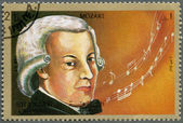 SHARJAH & DEPENDENCIES - 1972: shows Wolfgang Amadeus Mozart (1756-1791) — Stock Photo