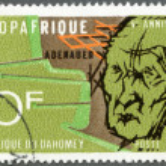 Постер, плакат: REPUBLIC OF DAHOMEY 1968: shows Konrad Adenauer 1876 1967
