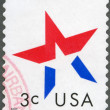UNITED STATES OF AMERICA - 2002: shows star — Stock Photo