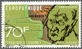 REPUBLIC OF DAHOMEY - 1968: shows Konrad Adenauer (1876-1967) — Stok fotoğraf