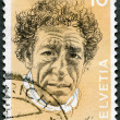 SWITZERLAND - 1972: shows Alberto Giacometti (1901-1966), painter and sculptor — Foto de stock #10801864