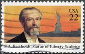 USA - 1985: shows Frederic Auguste Bartholdi (1834-1904), Statue of Liberty — Stock Photo