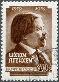 USSR - 1959: shows Shalom Aleichem (1859-1916), Yiddish writer, — Stock Photo