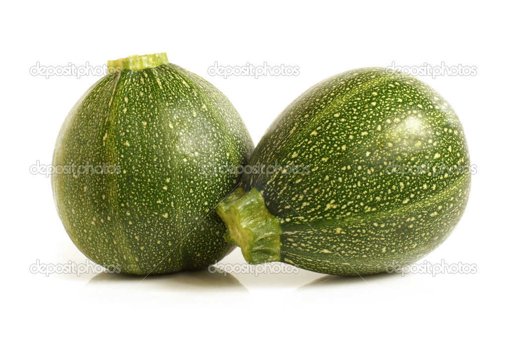 Courgette or zucchini on a white background — Stock Photo #10851061