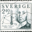 SWEDEN - 1982: shows Anders Celsius (1701-1744), inventor of temperature — Stock Photo #10961663