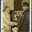 ZAIRE - 1975: shows President Mobutu visiting Chairman Mao - Stock Photo