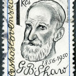 CZECHOSLOVAKIA - 1981: shows George Bernard Shaw (1856-1950), playwright - Foto de Stock