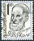 CZECHOSLOVAKIA - 1981: shows George Bernard Shaw (1856-1950), playwright — Stock Photo