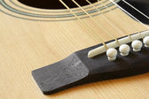 Detail of classic acoustic guitar — Stock Photo