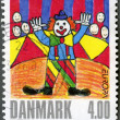 Royalty-Free Stock Photo: DENMARK - 2002: shows Clown, by una Ostergard, series Winning drawings in childrens stamp design contest