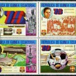 EQUATORIAL GUINEA - 1974: shows Barcelona Soccer Team, 75th anniversary — Stock Photo