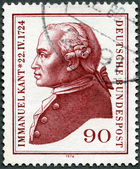 GERMANY- 1974: shows Immanuel Kant (1724-1804), philosopher — Stock Photo