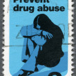 USA - 1971: shows a Young Woman Drug Addict, Prevent Drug Abuse — Stock Photo