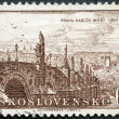 CZECHOSLOVAKIA - 1957: shows Charles Bridge 1357-1957, Prague — Stock Photo