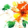 Painted abstract flower — Stok fotoğraf