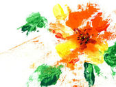 Painted abstract flower — Stock Photo