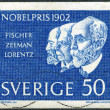 Постер, плакат: SWEDEN 1962: shows Hermann Emil Fischer Pieter Zeeman and Hendrik Antoon Lorentz Winners of the 1902 Nobel Prize