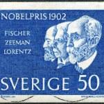 ������, ������: SWEDEN 1962: shows Hermann Emil Fischer Pieter Zeeman and Hendrik Antoon Lorentz Winners of the 1902 Nobel Prize