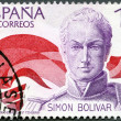 SPAIN - 1978: shows Simon Bolivar (1783-1830), South American liberator — Stock Photo