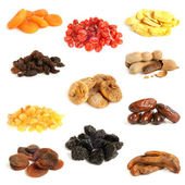 Dried fruit collection — Stock Photo
