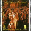 Stock Photo: EQUATORIAL GUINE- 1978: shows Elizabeth II, Coronation, 25th Anniversary