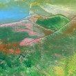Mountain landscape, abstract painting — Photo