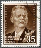 GERMANY - 1953: shows Maxim Gorky (1868-1936), a Russian writer — Stock Photo