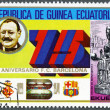 EQUATORIAL GUINE- 1974: shows JoGamper, BarcelonSoccer Team, 75th anniversary — Stockfoto #11359269