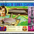 EQUATORIAL GUINEA - 1974: shows Johan Cruyff, Barcelona Soccer Team, 75th anniversary - Stock Photo