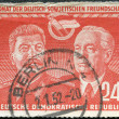 Постер, плакат: GERMANY 1951: shows Stalin and Wilhelm Pieck Month of East German Soviet friendship