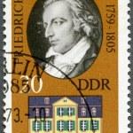 Постер, плакат: GERMANY 1973: shows Friedrich von Schiller 1759 1805 and his Home in Weimar