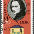 GERMANY - 1973: shows Franz Liszt (1811-1886) and his Home in Weimar — Stok Fotoğraf #11389261