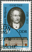 GERMANY - 1973: shows Goethe (1749-1832) and his Home in Weimar — Stock Photo
