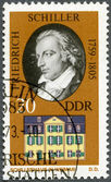 GERMANY - 1973: shows Friedrich von Schiller (1759-1805) and his Home in Weimar — 图库照片