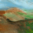 Stock Photo: Mountain landscape, abstract painting