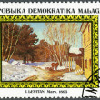 MALAGASY REPUBLIC - 1986: shows March, 1895, by I. Levitan, series Paintings in the Tretyakov Gallery, Moscow — Stock Photo