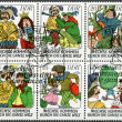 "GERMANY - 1977: shows Various scenes from fairytale: ""Six Men Around the World"" — Stock Photo"