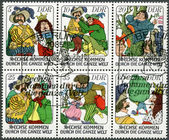 "GERMANY - 1977: shows Various scenes from fairytale: ""Six Men Around the World"" — ストック写真"
