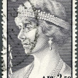 GREECE - 1956: shows Queen Sophia of Greece - Stock Photo