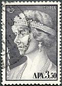 GREECE - 1956: shows Queen Sophia of Greece — Stock Photo